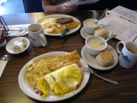 Breakfast at Mt Whitney restaurant