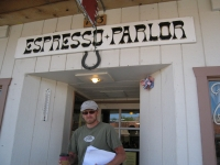 Good coffee at Expresso Parlor in Lone Pine